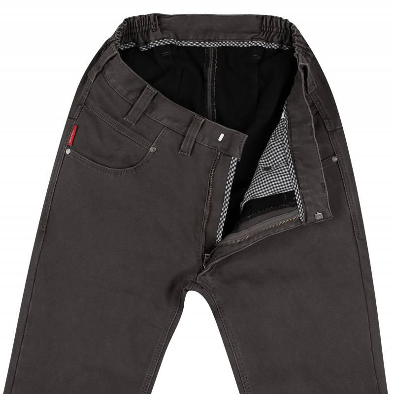Elastic-waisted, Thermal-Gabardine-Jeans N-12 52