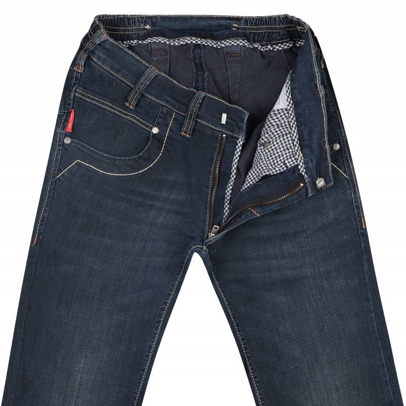 Slim Fit Stretch Jeans Blue Black Fashion