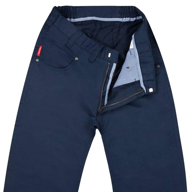 Regular-Fit Summer Pants with Linen Mix