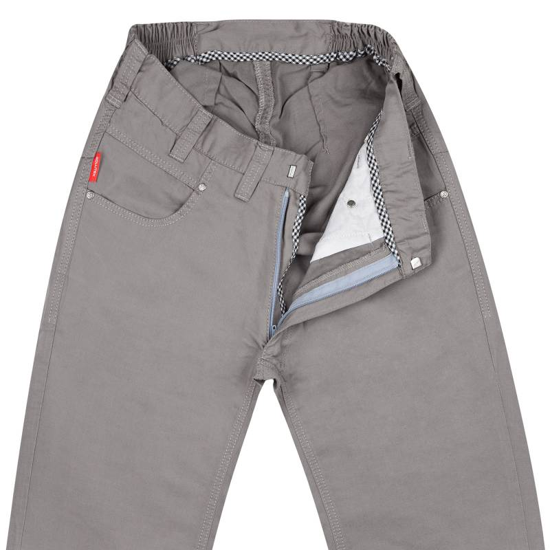 Slim-Fit Summer Pants With Leinen-Mix