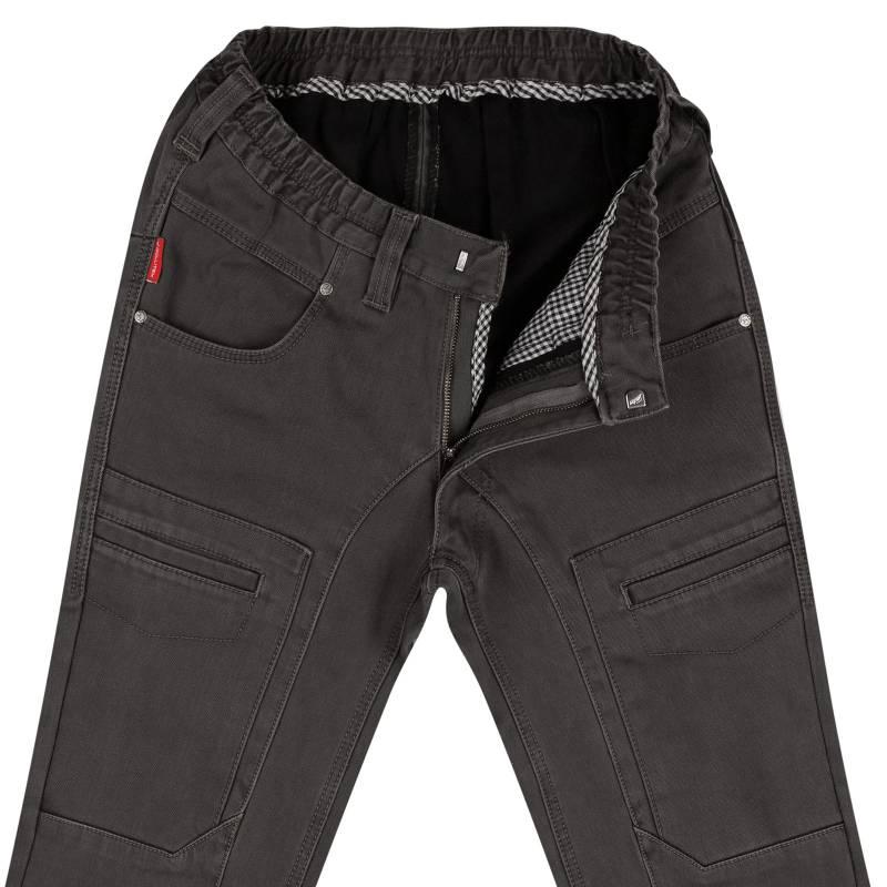 Elastic-waisted, Thermal-Gabardine-Jeans N-12