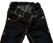 Jeans - dark coated black 54